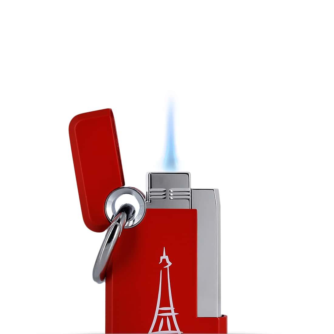 Photo #1 de Briquet S.T. Dupont Hooked Paris Rouge