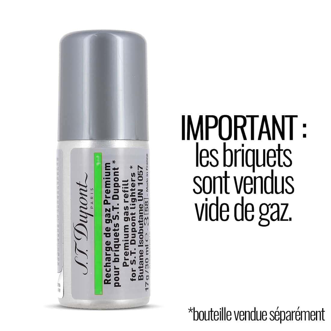 Photo #7 de Briquet S.T. Dupont Ligne 2 Or Pointe de Microdiamant Petit Modèle