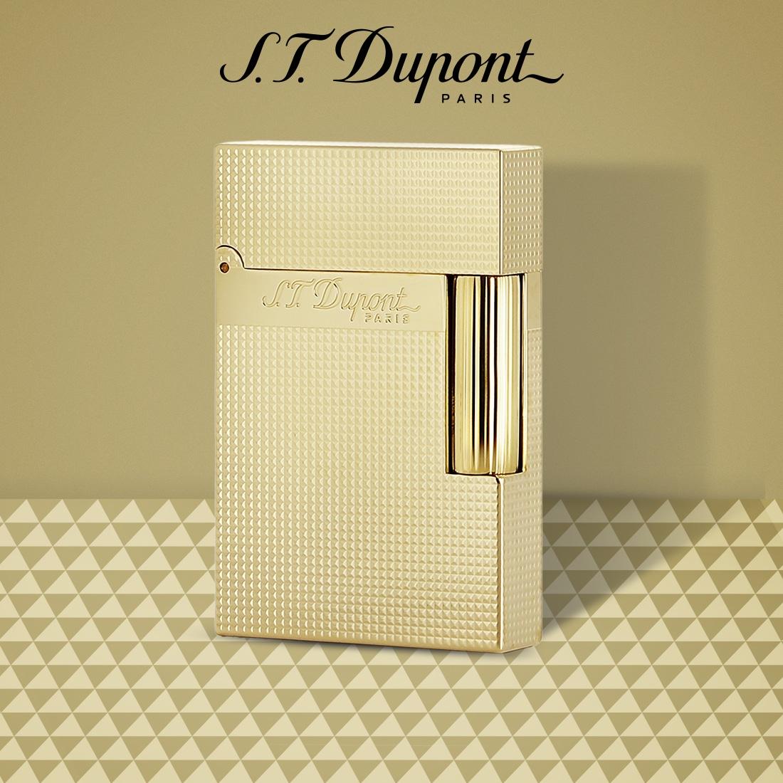Photo #5 de Briquet S.T. Dupont Ligne 2 Or Pointe de Microdiamant Petit Modèle