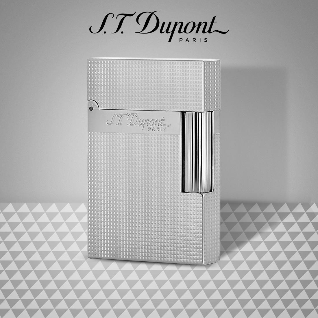 Photo #5 de Briquet S.T. Dupont Ligne 2 Palladium Pointe de Microdiamant Petit Modèle