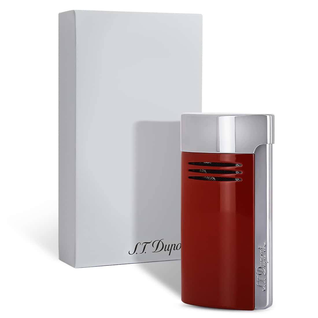 Photo #1 de Briquet S.T. Dupont MegaJet Rouge et Chrome