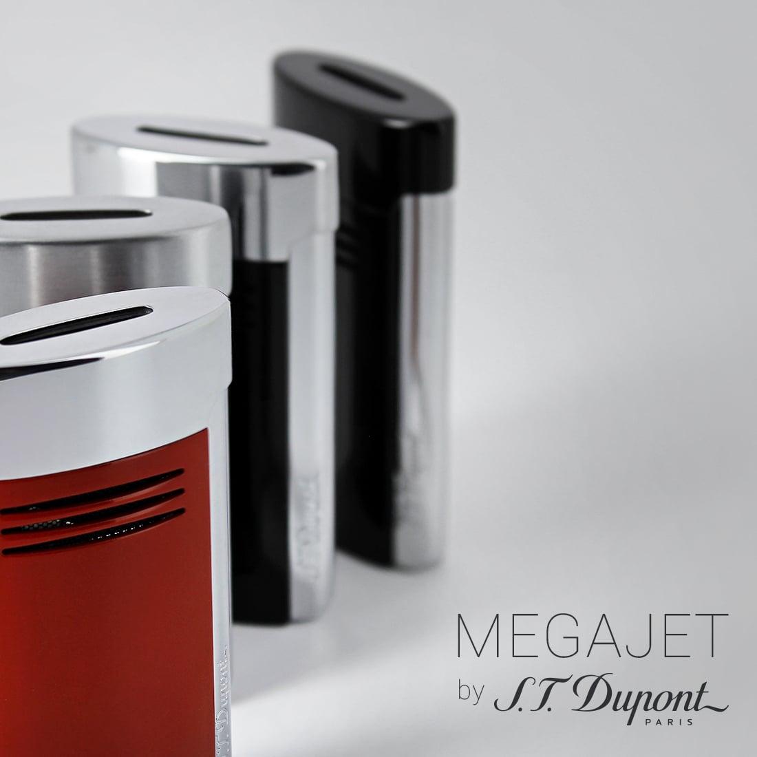 Photo #3 de Briquet S.T. Dupont MegaJet Rouge et Chrome