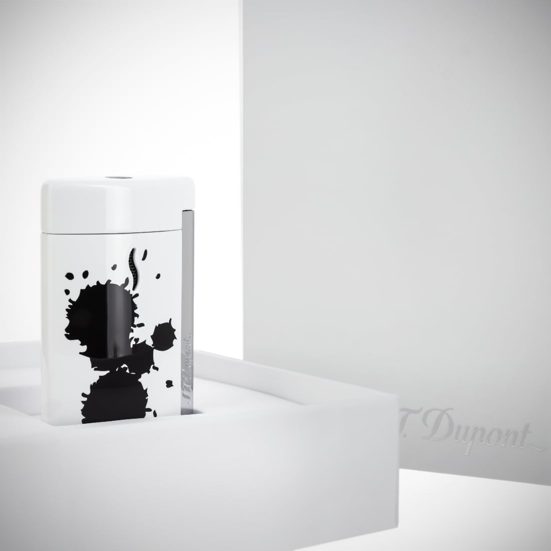 Photo #2 de Briquet S.T. Dupont miniJet Splash Blanc