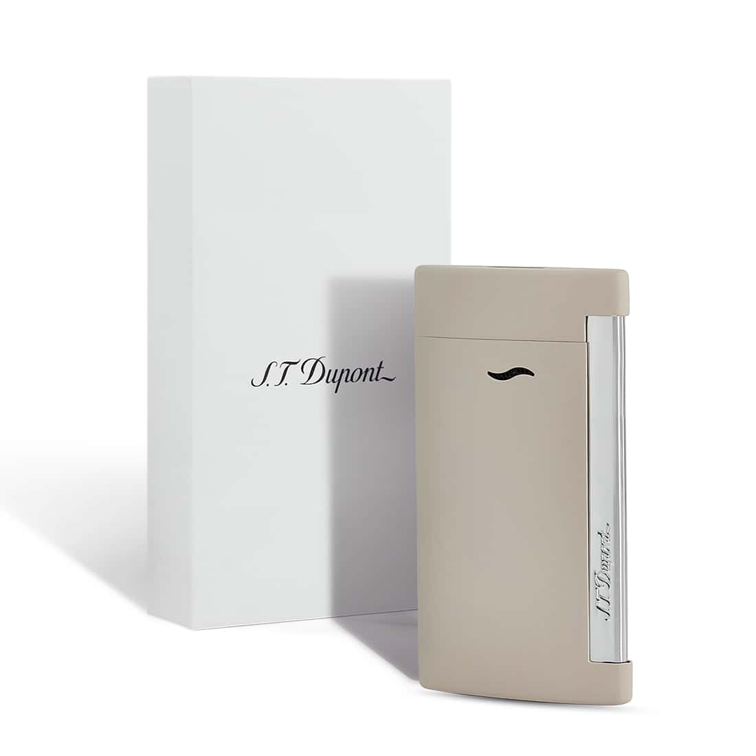 Photo #1 de Briquet S.T. Dupont Slim 7 Beige Mat