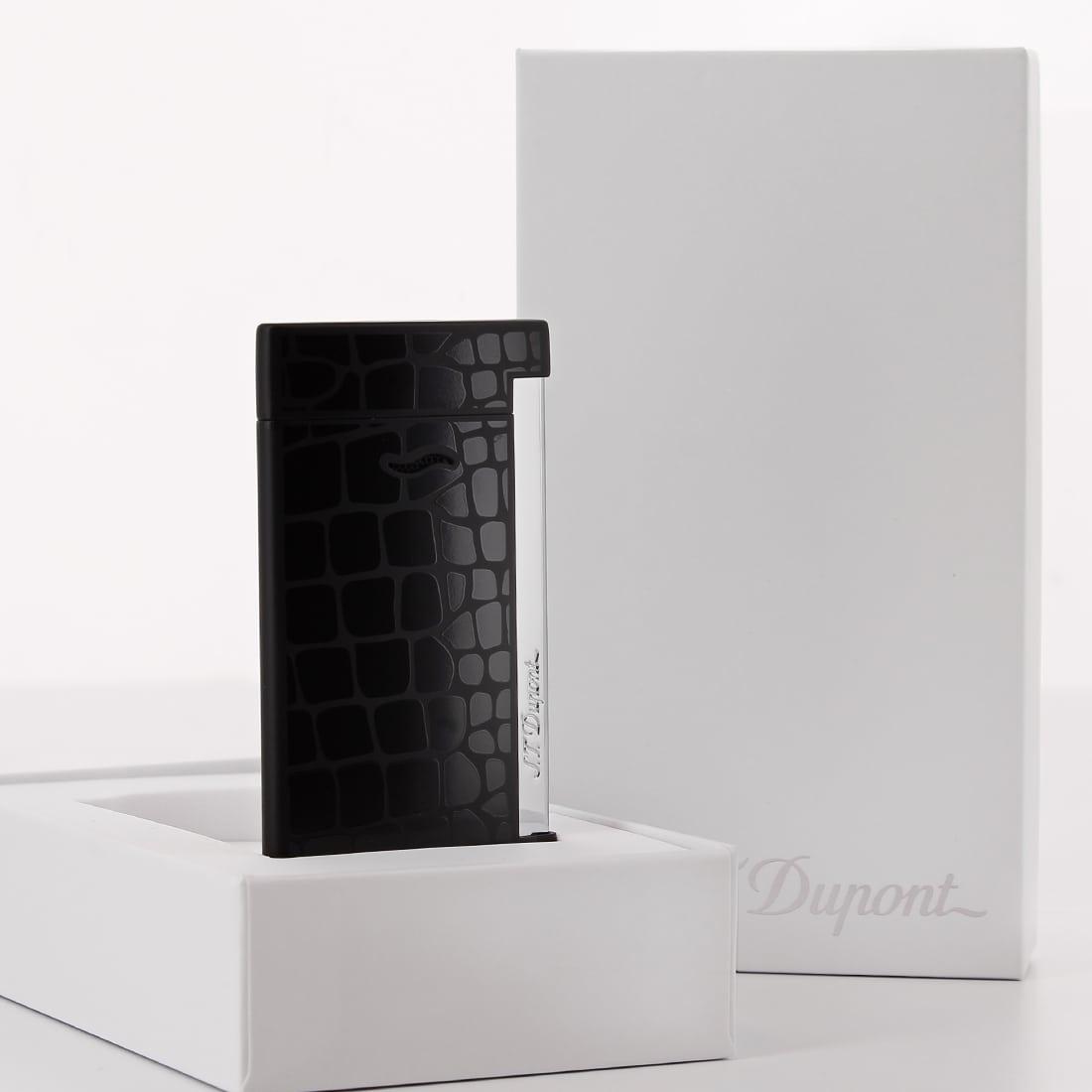 Photo #2 de Briquet S.T. Dupont Slim 7 Croco Noir