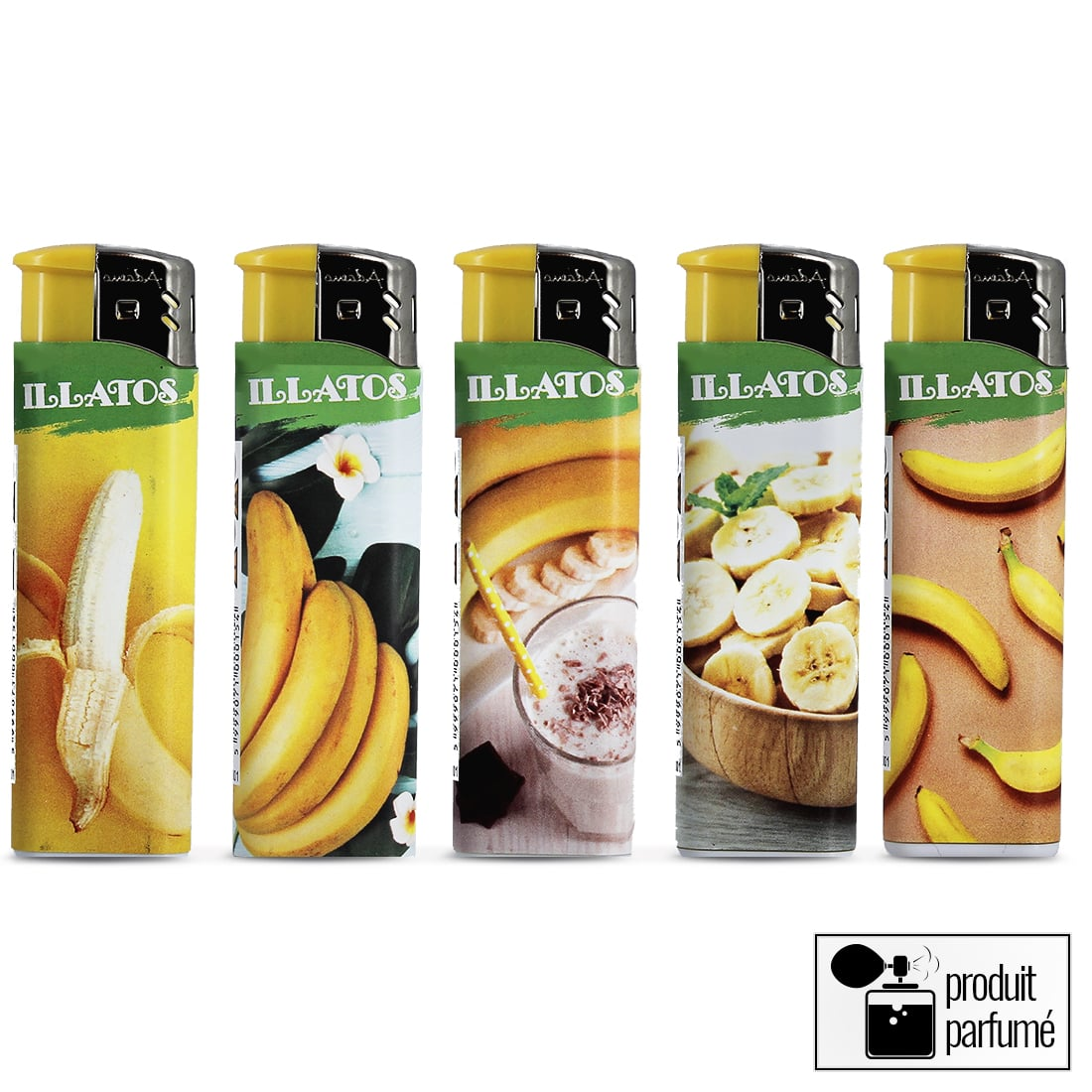 Photo #1 de Briquets électroniques Senteur Banane x 5