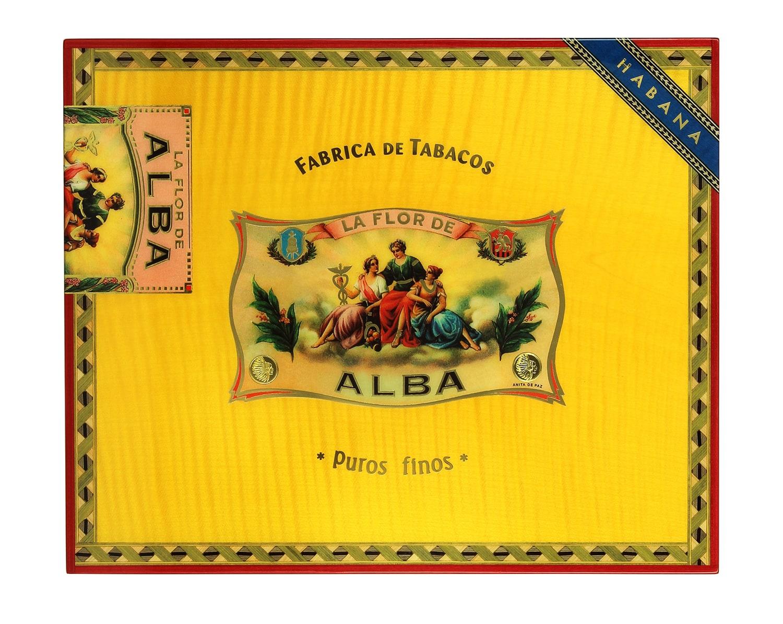 Photo #1 de Cave a cigare Elie Bleu Flor de ALba Jaune d'or