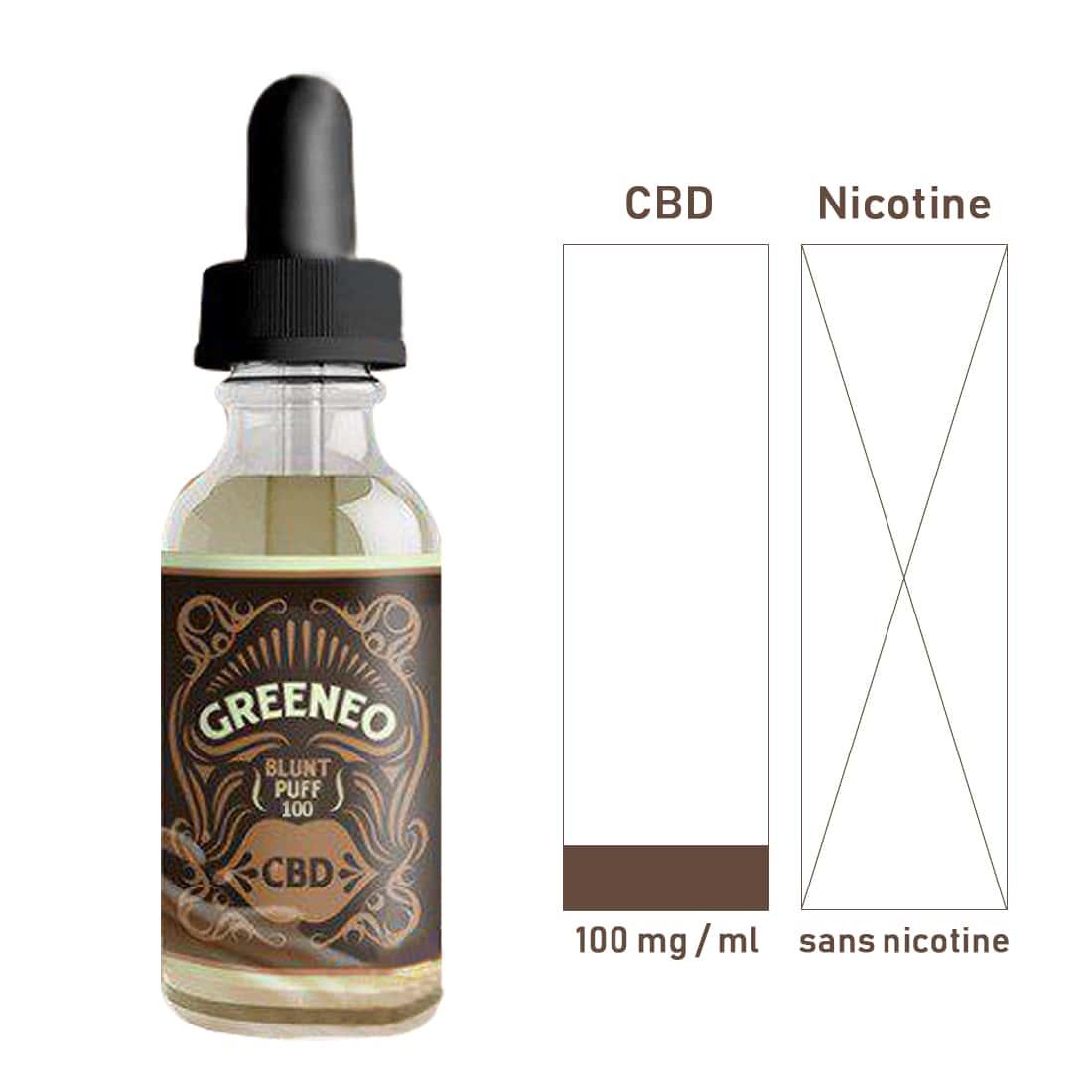 Photo #1 de CBD E liquide Greeneo Blunt Puff 100mg