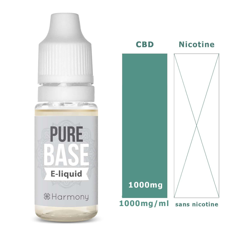 Photo #1 de CBD E liquide pure base 1000mg
