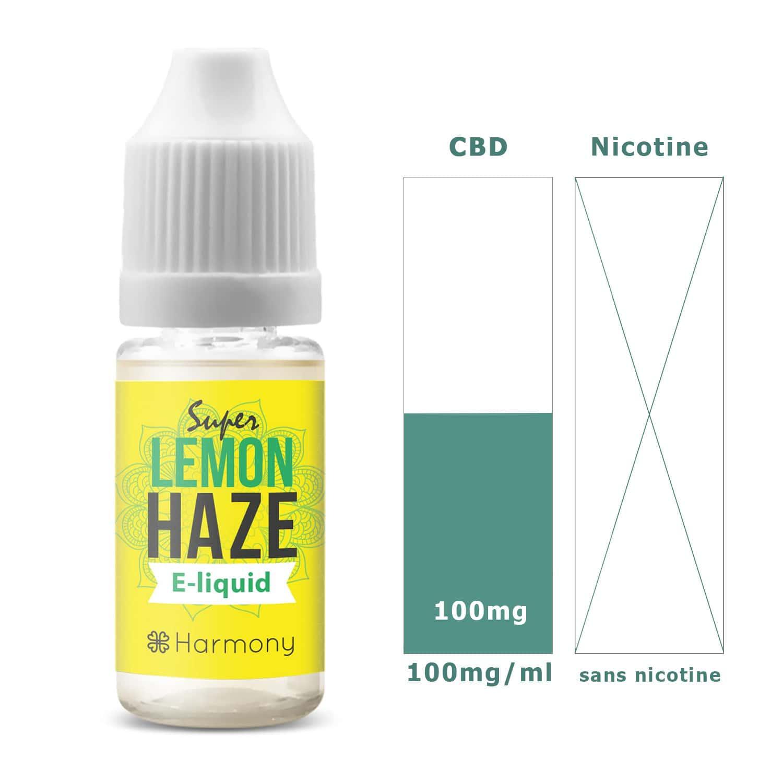 Photo #1 de CBD E liquide super lemon haze 100mg
