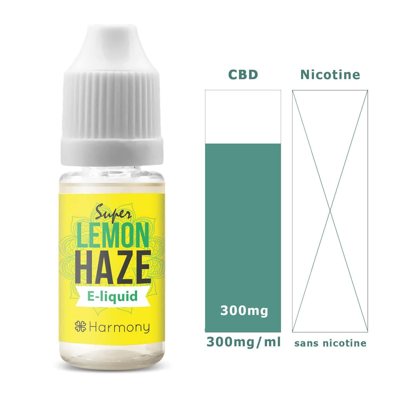 Photo #1 de CBD E liquide super lemon haze 300mg