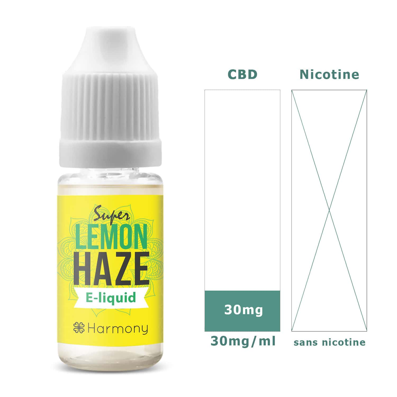 Photo #1 de CBD E liquide super lemon haze 30mg