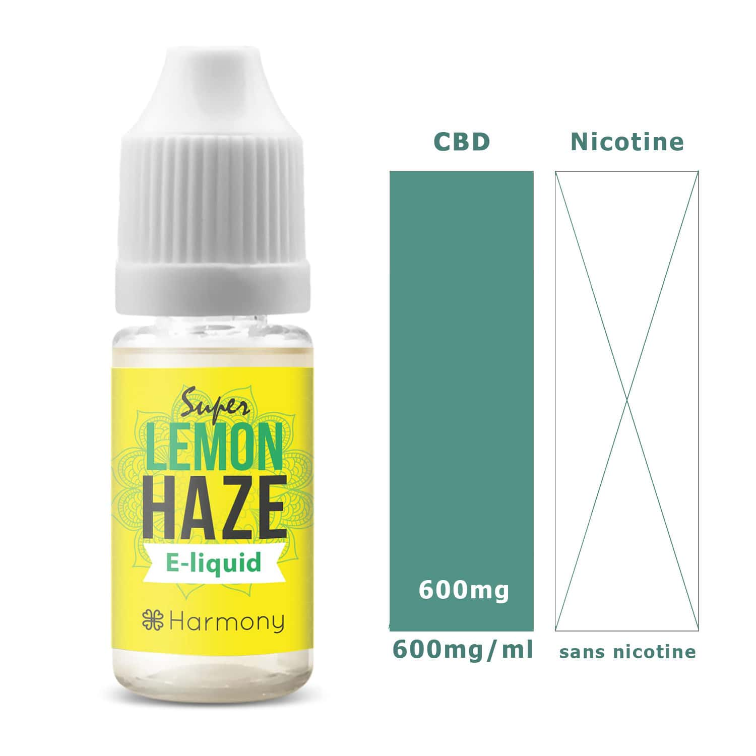 Photo #1 de CBD E liquide super lemon haze 600mg