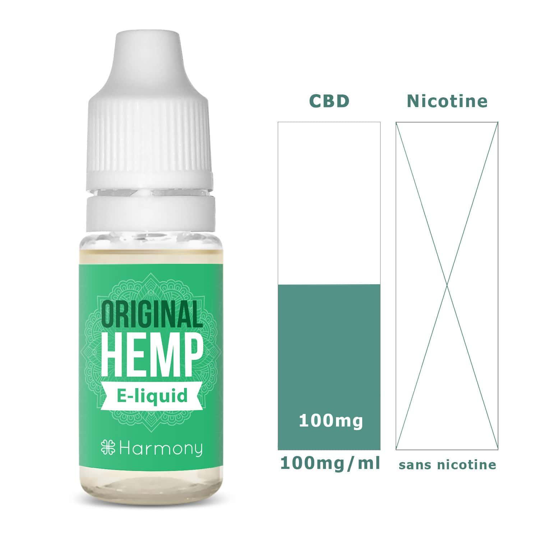 Photo #1 de CBD E liquide original hemp 100mg