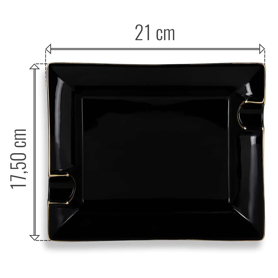 Photo #2 de Cendrier Cigare Porcelaine Noir