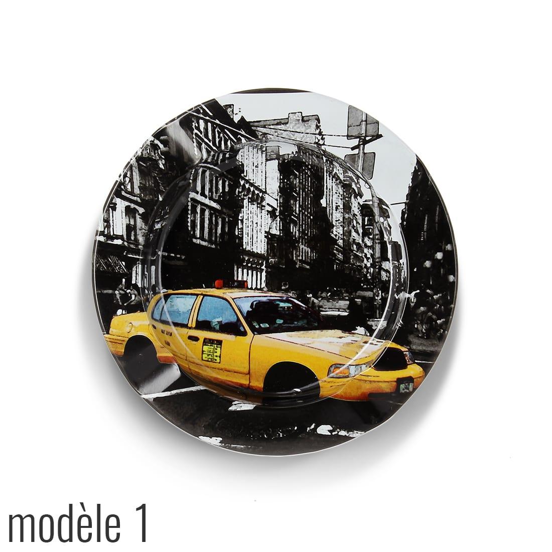 Photo #1 de Cendrier Métal Taxi New York City