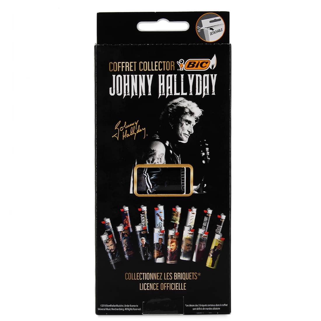 Photo #3 de Coffret Collector 5 Briquets Bic Maxi Johnny Hallyday