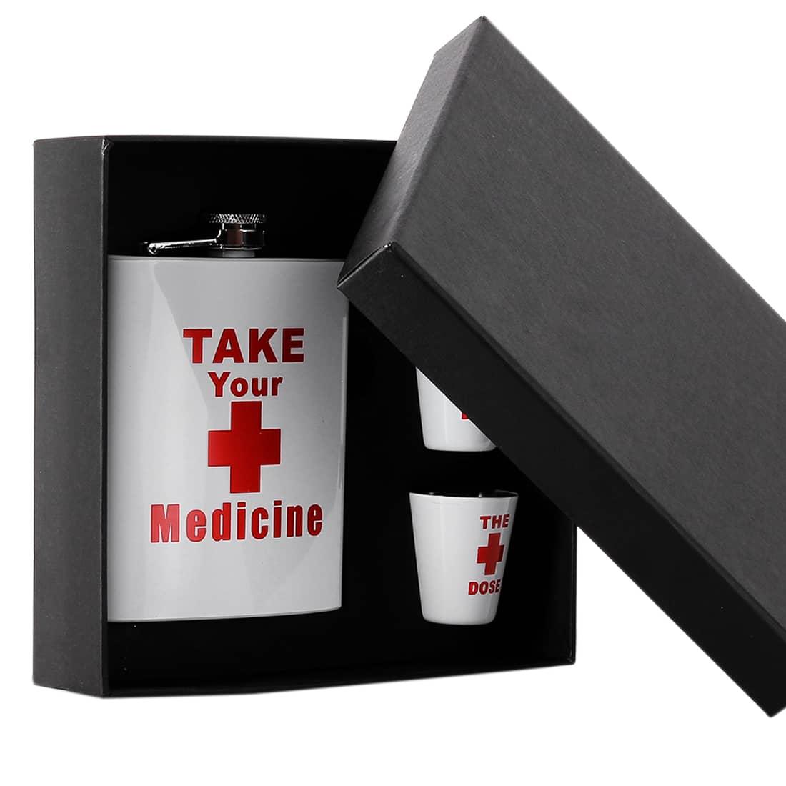 Photo #2 de Coffret Flasque Alcool Take Your Medicine
