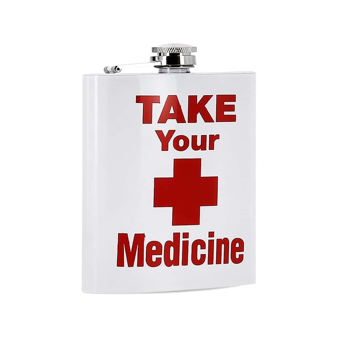 Photo #1 de Coffret Flasque Alcool Take Your Medicine