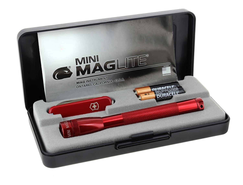 Photo #2 de Coffret Maglite Super Mini et couteau suisse Rouge