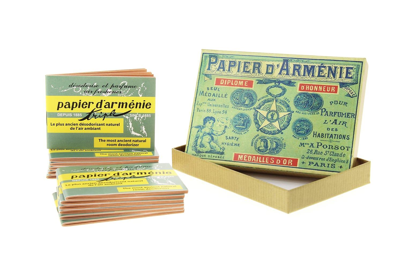 Photo #1 de Papier d'Arménie Coffret Vintage 1900 et ses 12 carnets