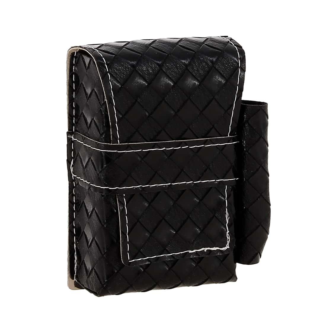 Photo #4 de Etui paquet cigarette et briquet simili cuir Tresses