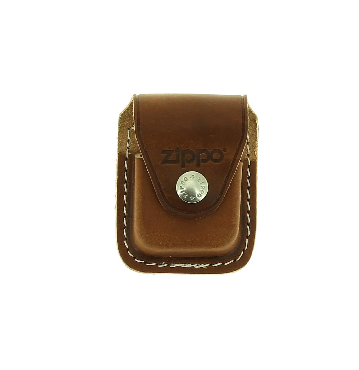 Photo #1 de Boite cadeau Zippo avec étui marron à clip