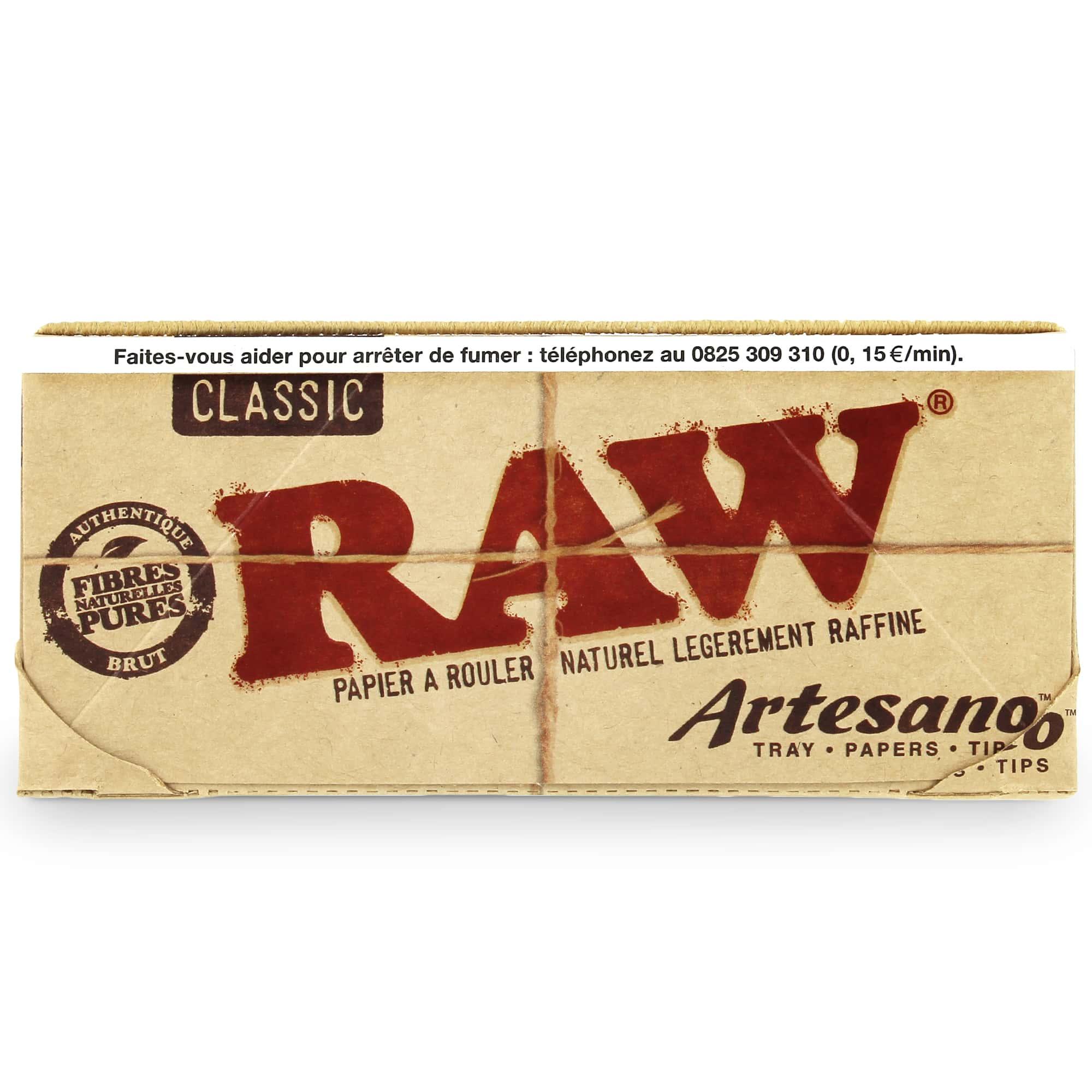Photo #3 de Feuille a rouler Raw Artesano Slim et Tips x 15