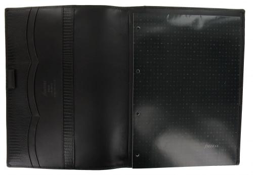 Photo #1 de Porte-Bloc Notes Filofax A4 Luxe Marron