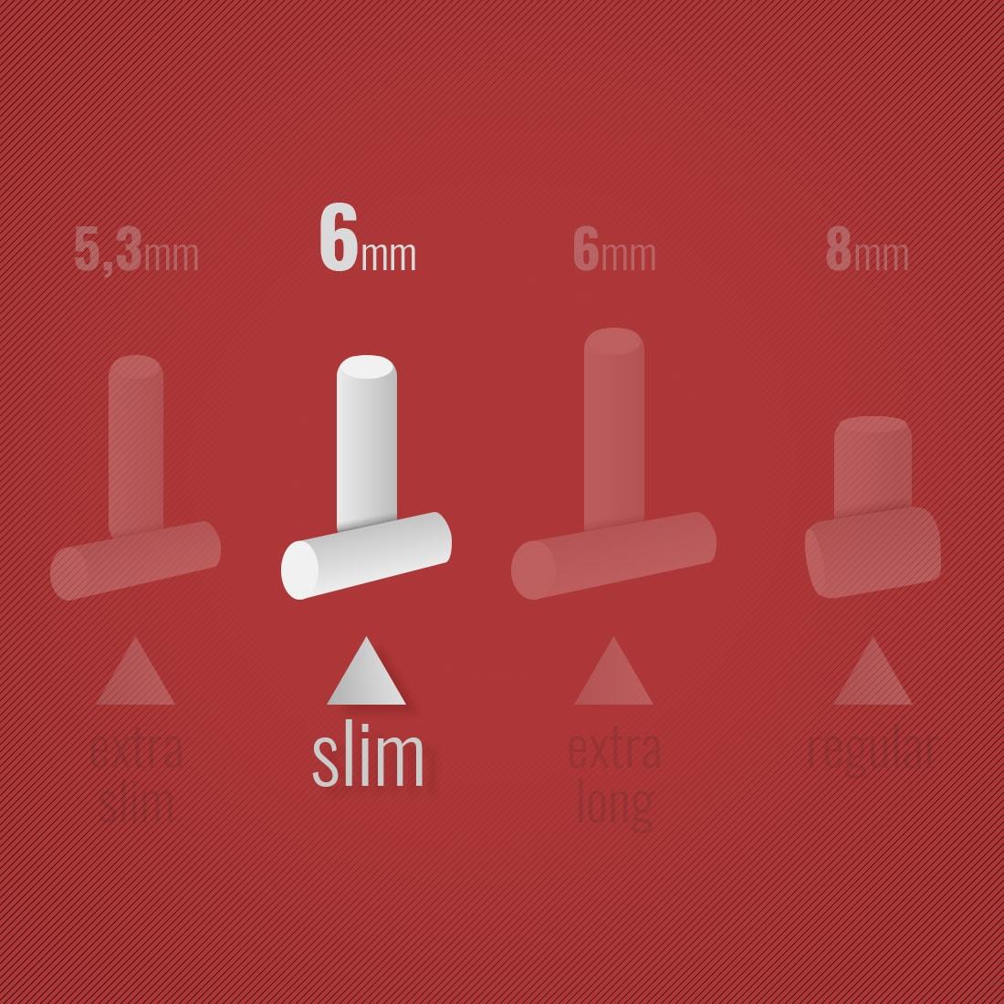 Photo #1 de Filtres Gizeh Slim 6 mm en sticks x 10