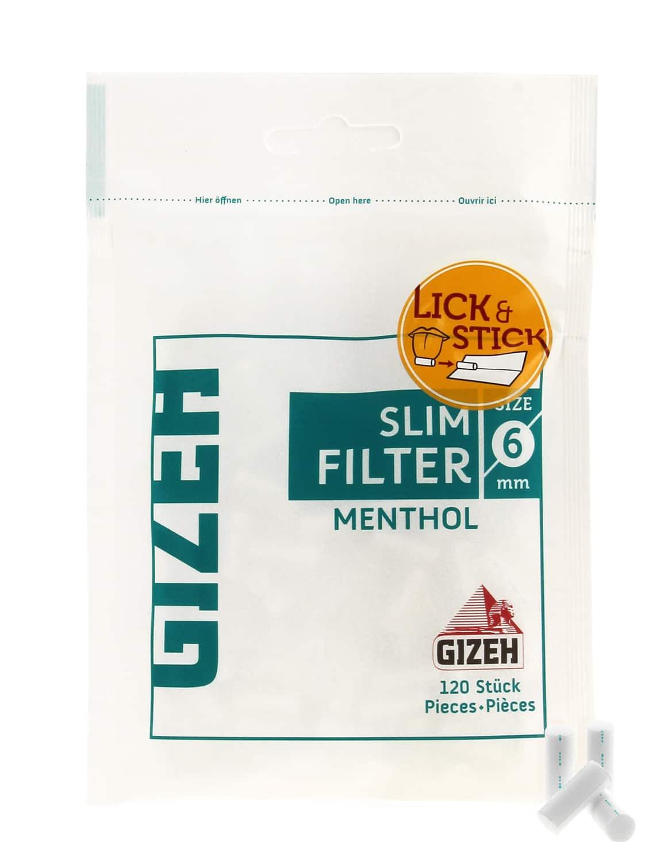 Photo #1 de Filtre Gizeh Slim Menthol x10