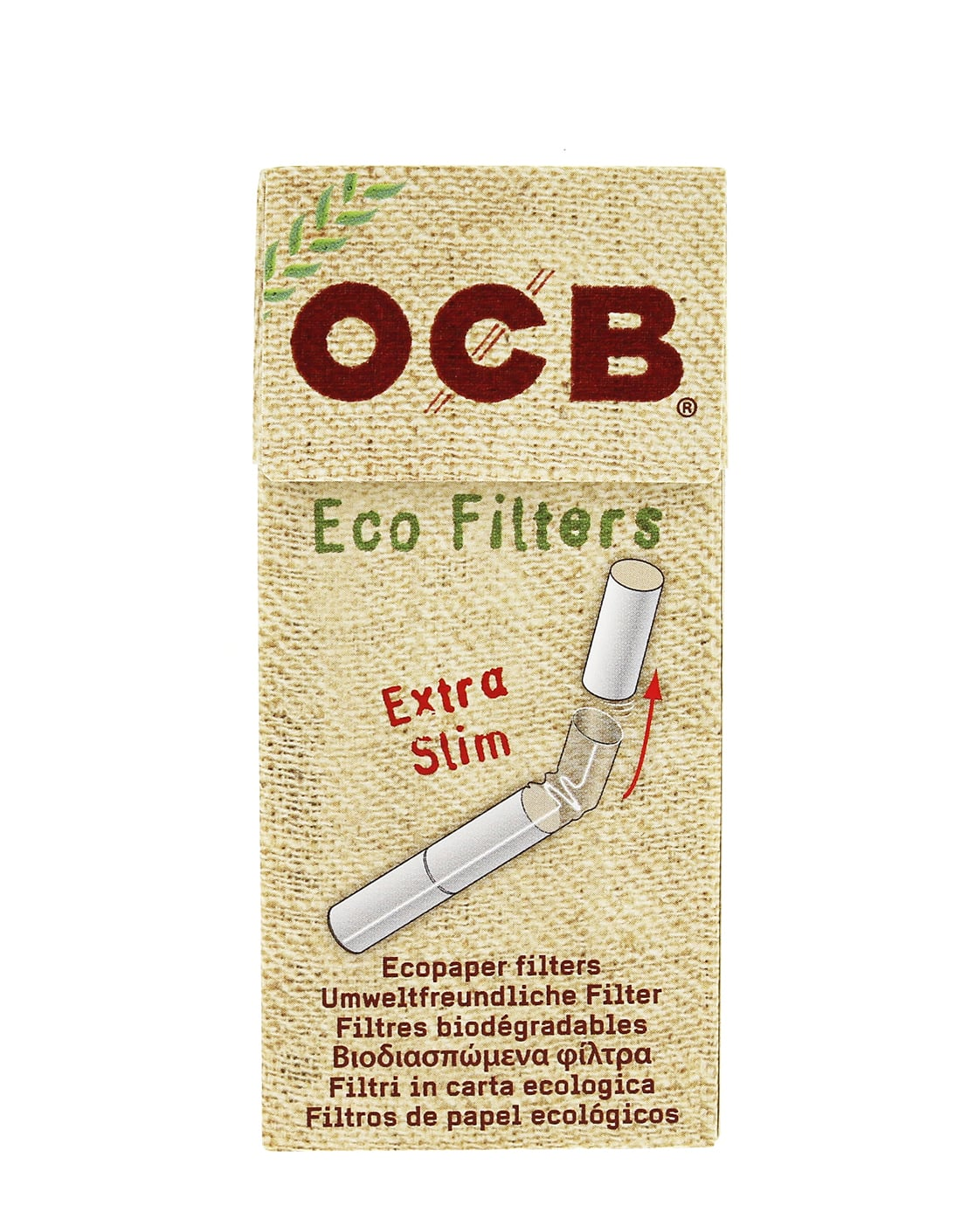 Photo #3 de Filtres OCB Chanvre Bio Extra Slim en stick x10