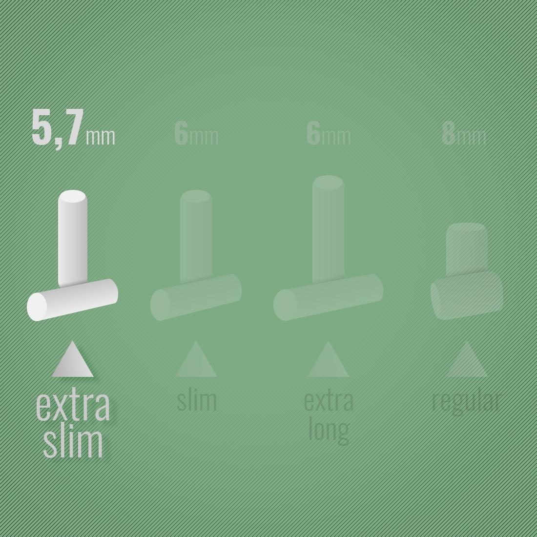 Photo #1 de Filtres OCB Chanvre Bio Extra Slim en stick x20