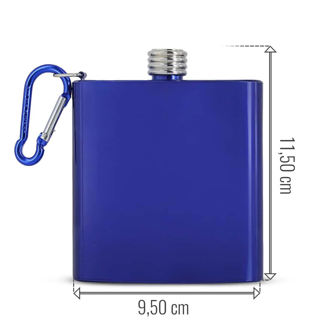 Photo #1 de Flasque Alcool Bleu Mousqueton