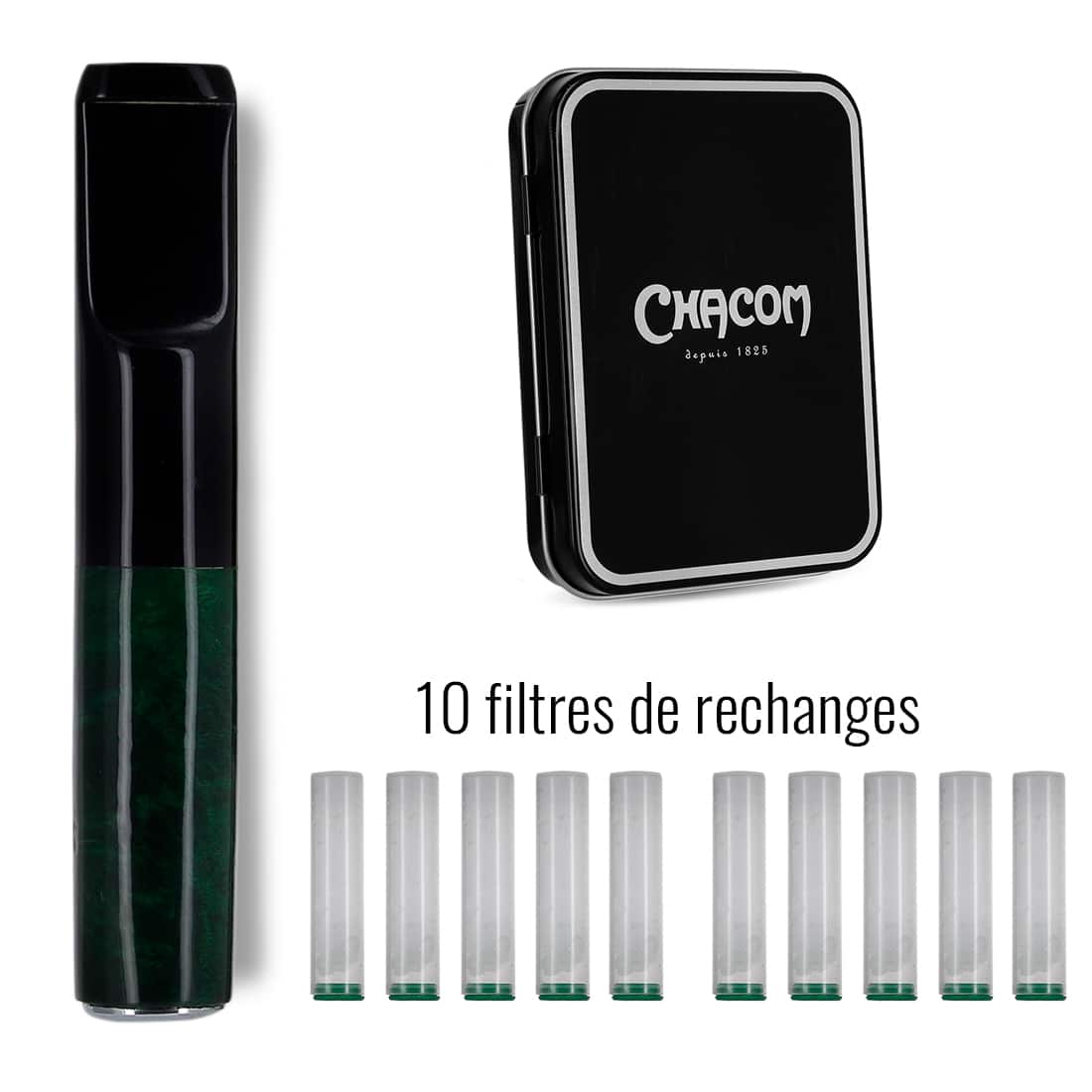Photo #3 de Fume Cigarette Chacom CC062 Vert