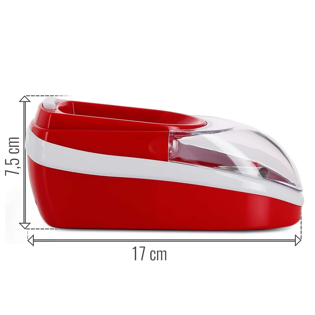 Photo #1 de Pack Mini machine à tuber électrique rouge et tubes Gizeh
