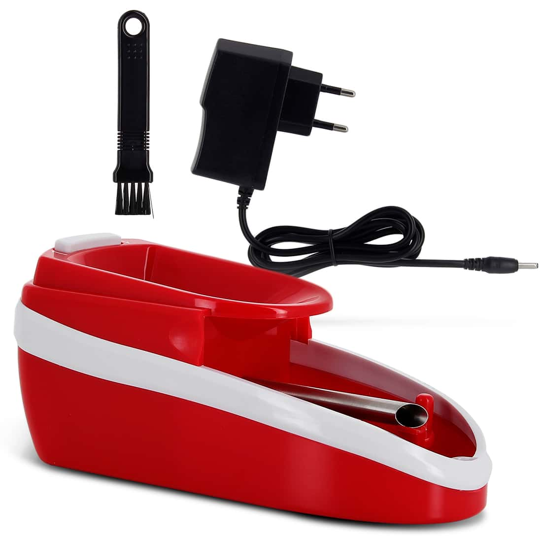 Photo #2 de Pack Mini machine à tuber électrique rouge et tubes Gizeh
