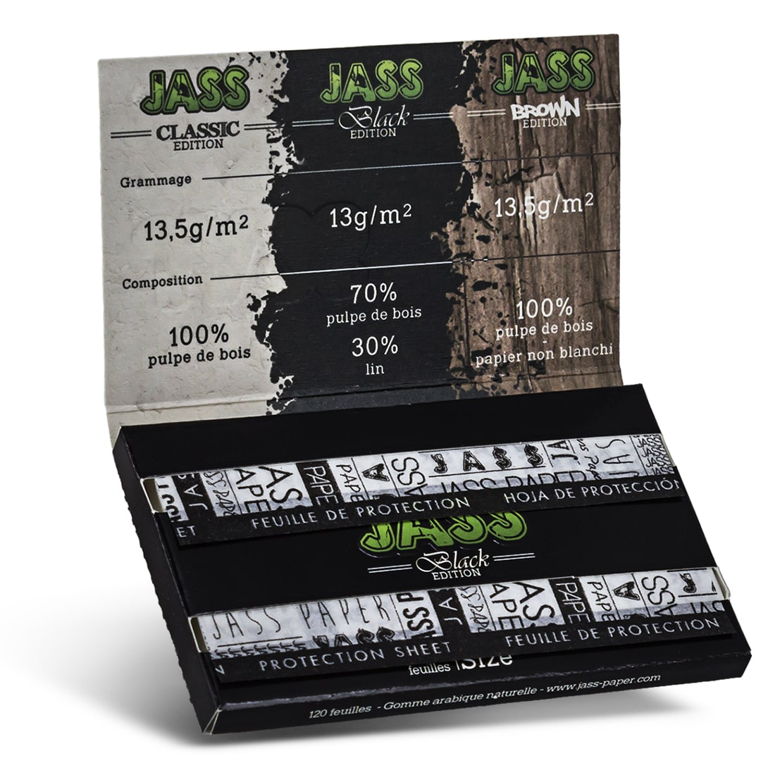 Photo #1 de Papier a rouler Jass Black Edition x 10