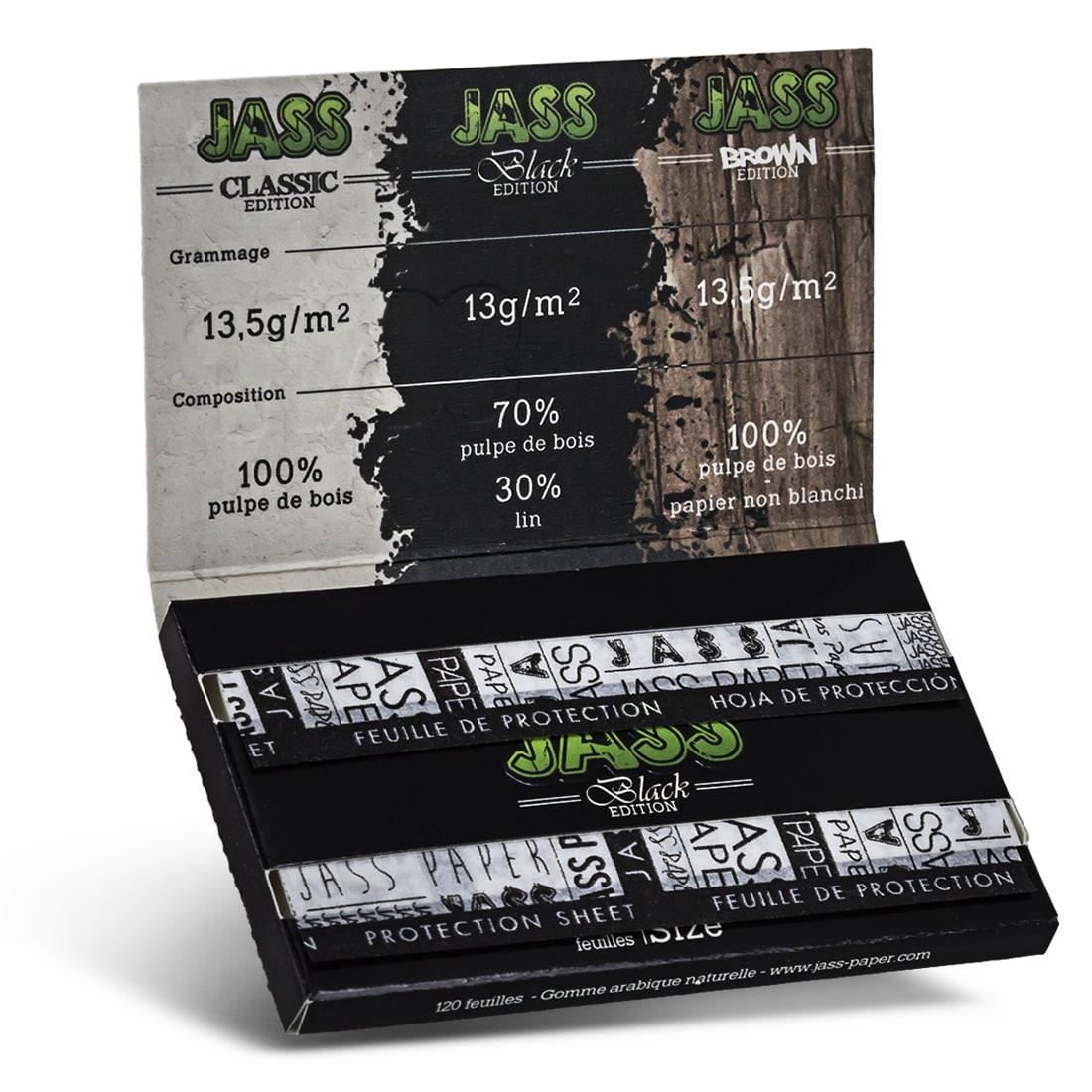 Photo #1 de Papier a rouler Jass Black Edition x 25