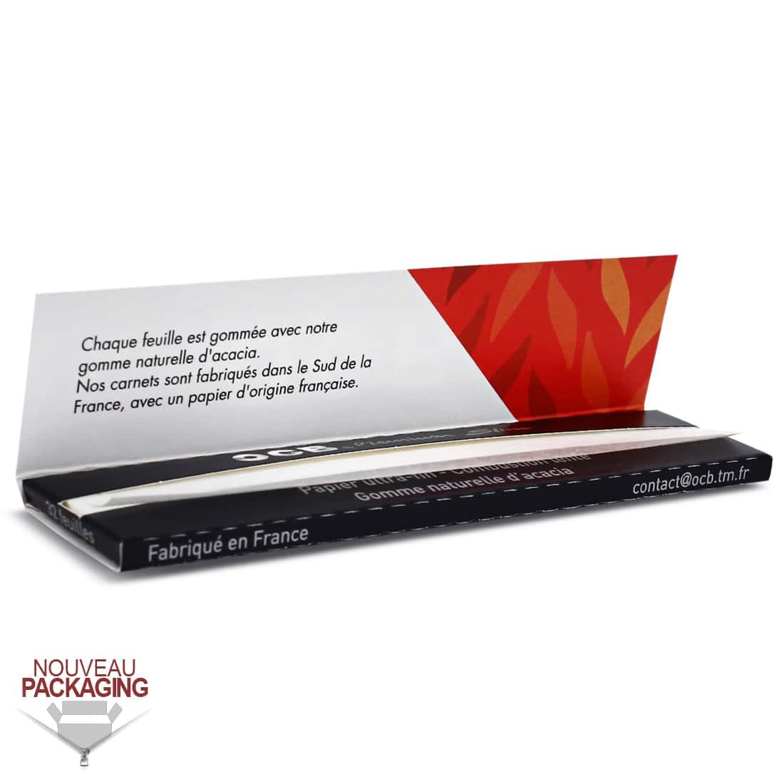 Photo #1 de Papier à rouler OCB Slim Premium x50 Pack de 6