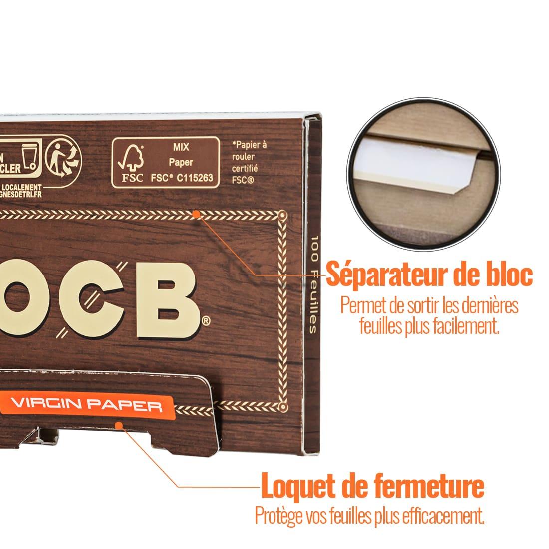 Photo #2 de Papier à rouler OCB Virgin Édition Limitée x 10