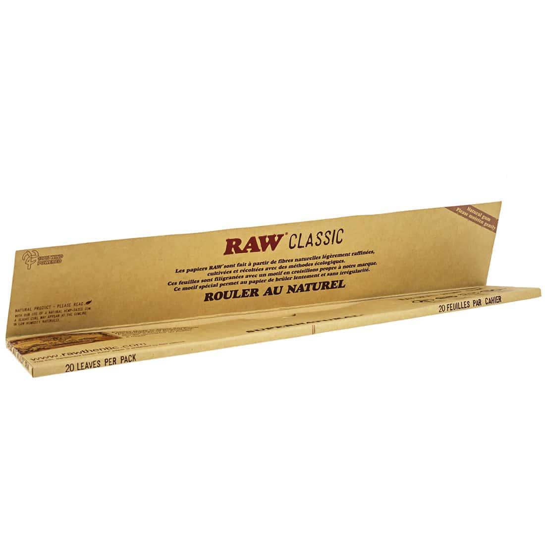 Photo #1 de Papier à rouler Raw Mega Longue x 20