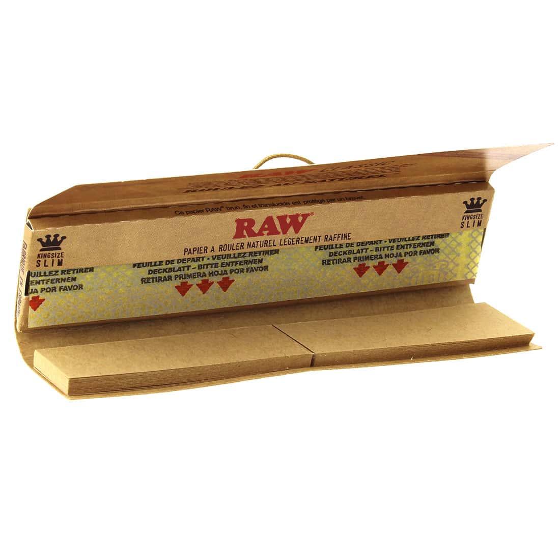 Photo #1 de Papier à rouler Raw Slim + Tips x 24 PACK de 3