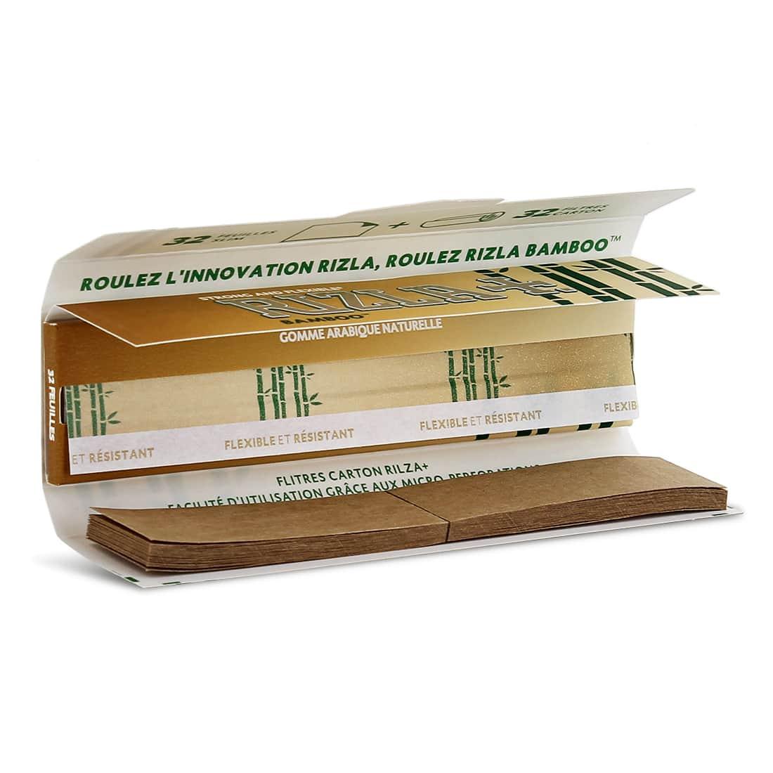 Photo #1 de Papier à rouler Rizla + Bamboo Slim et Tips x 10