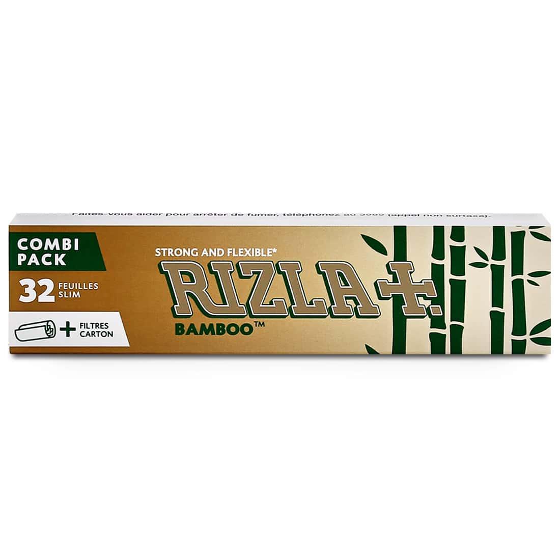 Photo #2 de Papier à rouler Rizla + Bamboo Slim et Tips x 24