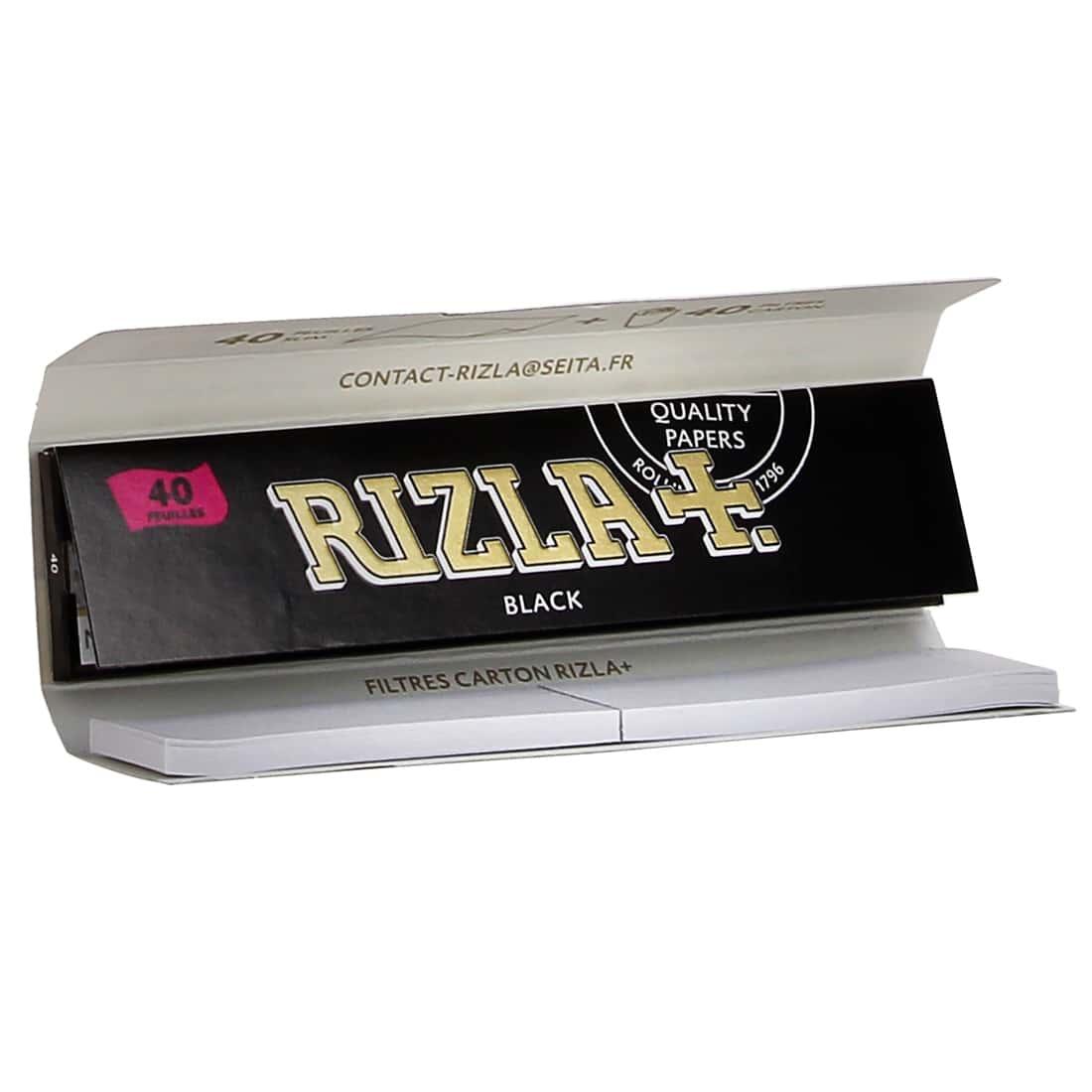 Photo #1 de Papier à rouler Rizla + Black Slim et Tips x24