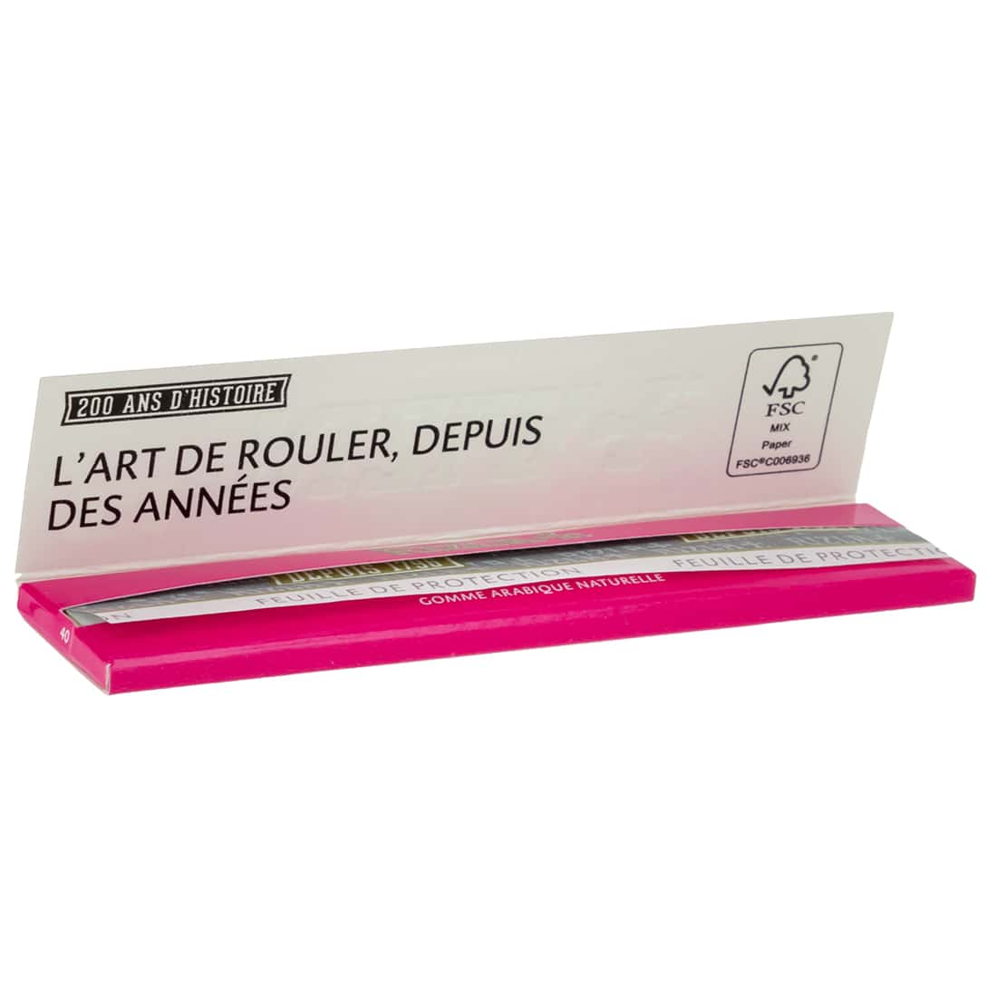 Photo #1 de Papier à rouler Rizla + Micron Pink Slim x 25