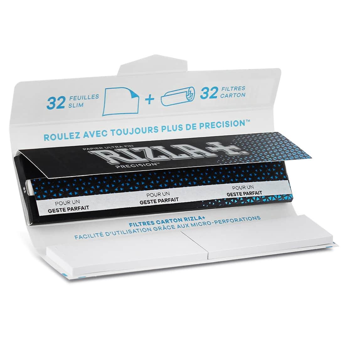 Photo #1 de Papier à rouler Rizla + Precision Slim et Tips x 24