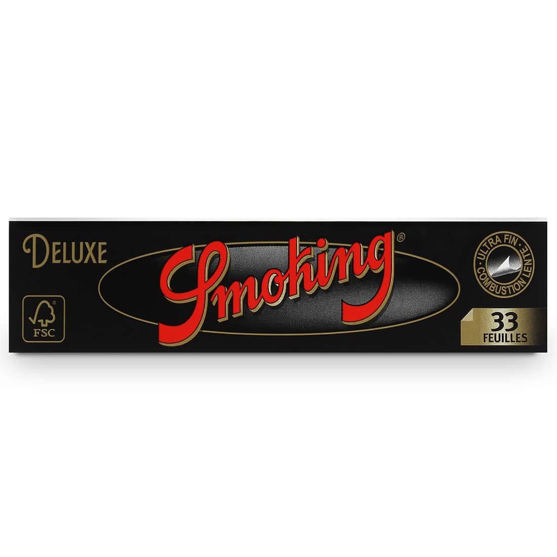 Photo #1 de Papier à rouler Smoking Slim Deluxe noir x50