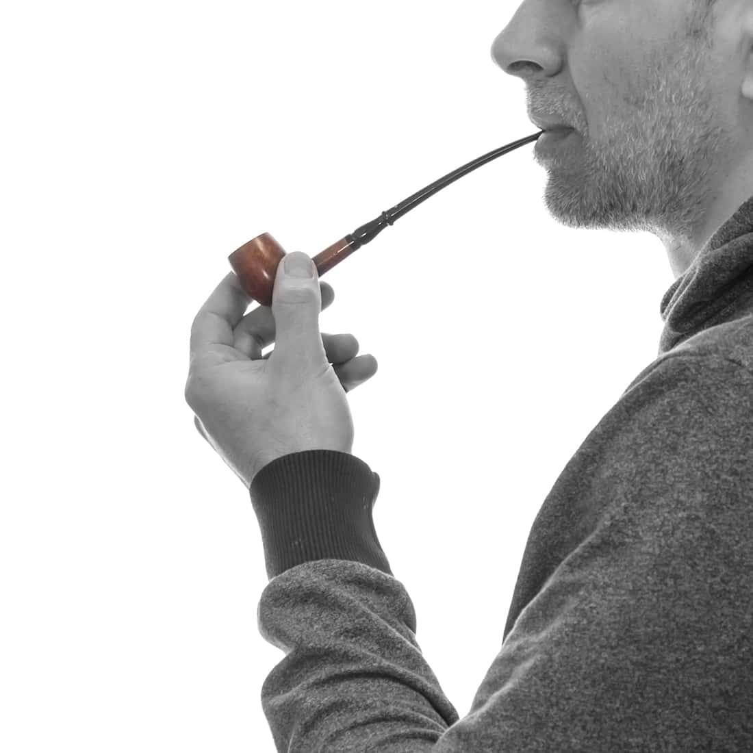 Photo #1 de Pipe de Cogolin Mini Cintrée Tuyau Long Fantaisie